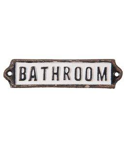 "Schild ""Bathroom"""