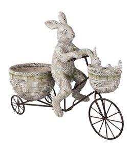 Osterdeko Osterhase auf Fahrrad