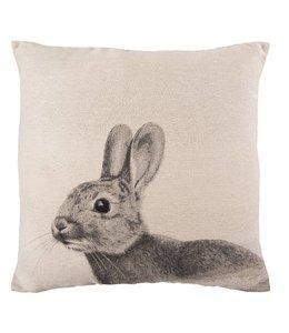 "Kissenhülle ""Kaninchen"" 45x45"