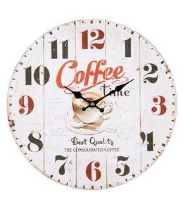 """Wanduhr Landhausstil """"Coffee Time"""""""