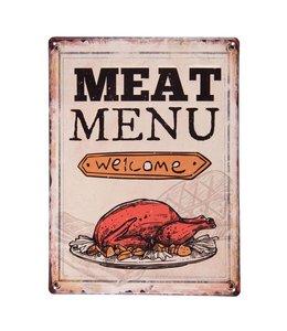 """Schild """"Meat Menu"""""""