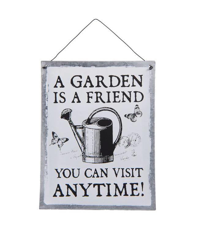 """Dekoschild """"A Garden is a Friend"""""""
