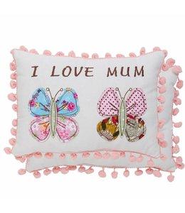 """Kissen """"I love Mum"""" 18x25"""