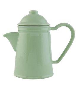 "Teekanne ""Emaille Look"" Keramik, grün"