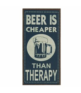 "Kühlschrankmagnet ""Beer is Cheaper than Therapy"""