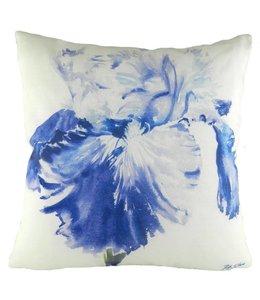 """Kissenhülle """"Blaue Iris"""" 45x45"""