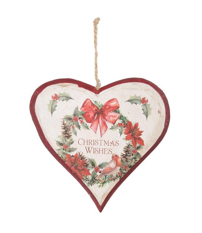 """Dekohänger Herz """"Christmas Wishes"""""""