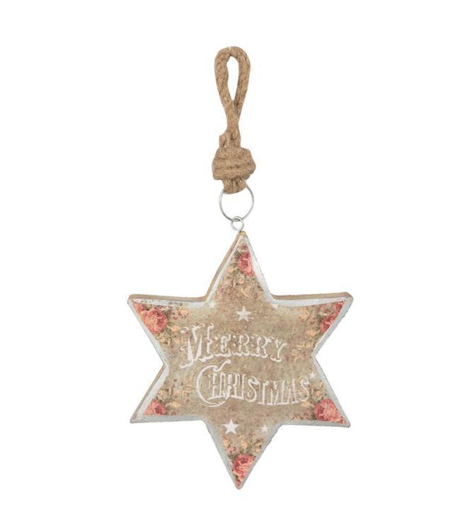 """Dekohänger Stern """"Merry Christmas"""""""