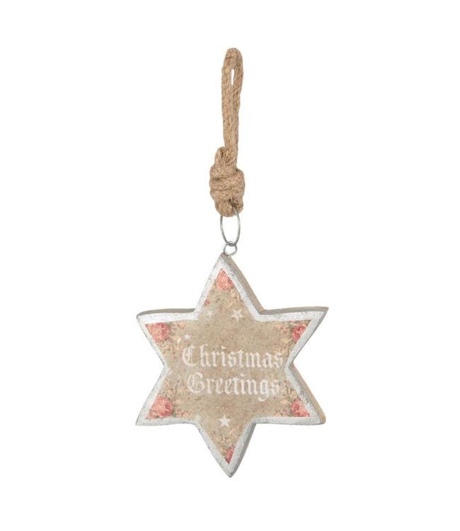 "Dekohänger Stern ""Christmas Greetings"""