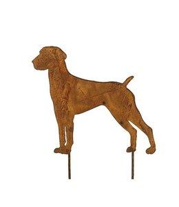 """Gartenstecker """"Dogge"""" Rostige Gartendekoration"""