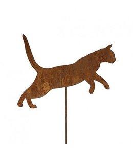 """Gartenstecker """"Katze"""" Rostige Gartendekoration"""