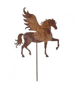"Gartenstecker ""Pegasus"" Rostig"