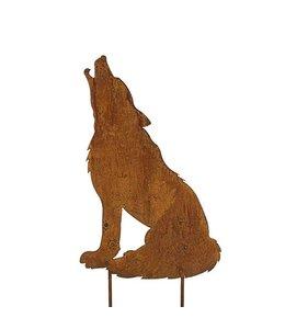 """Gartenstecker """"Wolf"""" Rostig - Landhausstil (2 Größen)"""
