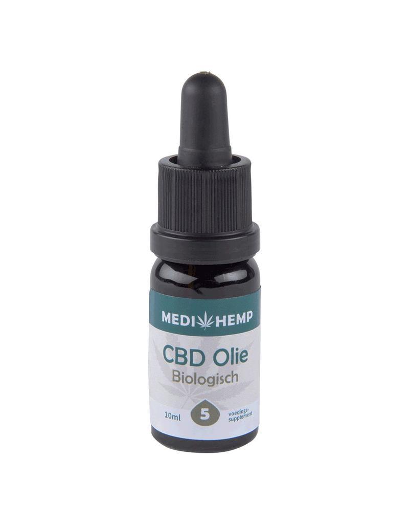 Medihemp CBD Olie Bio 5% 10ml ~500mg CBD