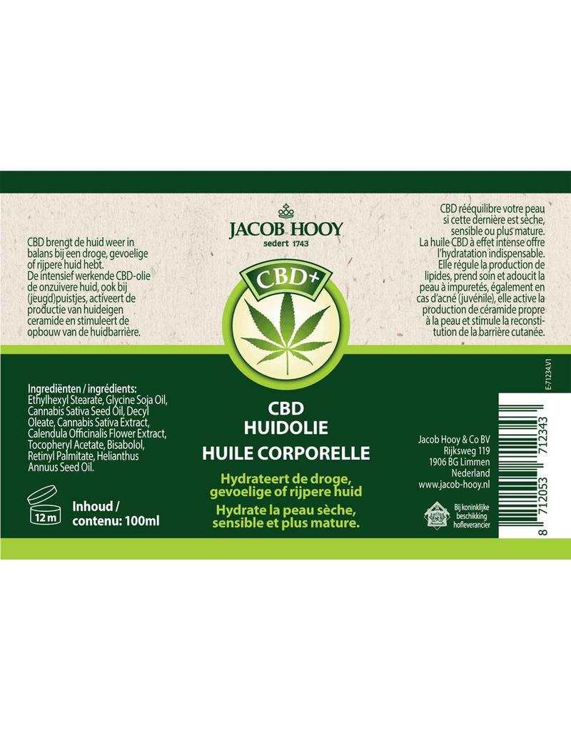 Jacob Hooy CBD Huidolie 100ml ( Jacob Hooy)