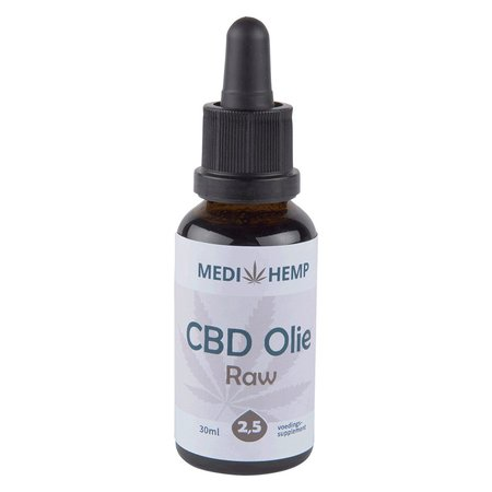 Medihemp CBD Olie 2,5% RAW van Medihemp (30ml)