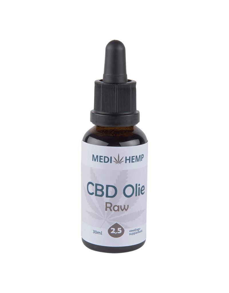 CBD Olie 2,5% RAW van Medihemp (30ml)