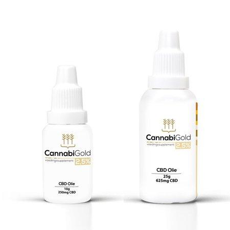 Cbd olie 2,5 % cannabigold