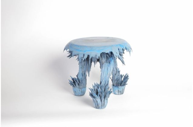 Jólan van der Wiel Gravity Stools - Blue & grey