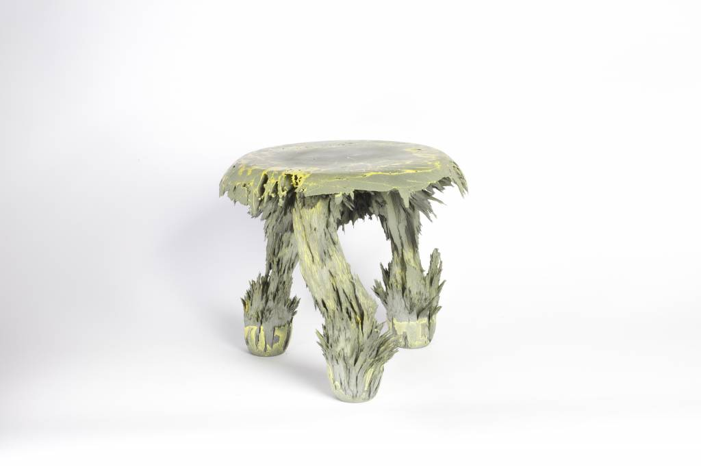 Gravity Stool - Yellow & grey