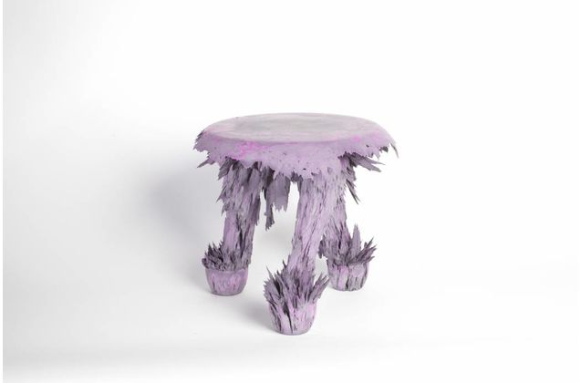 Jólan van der Wiel Gravity Stool - Purple & grey