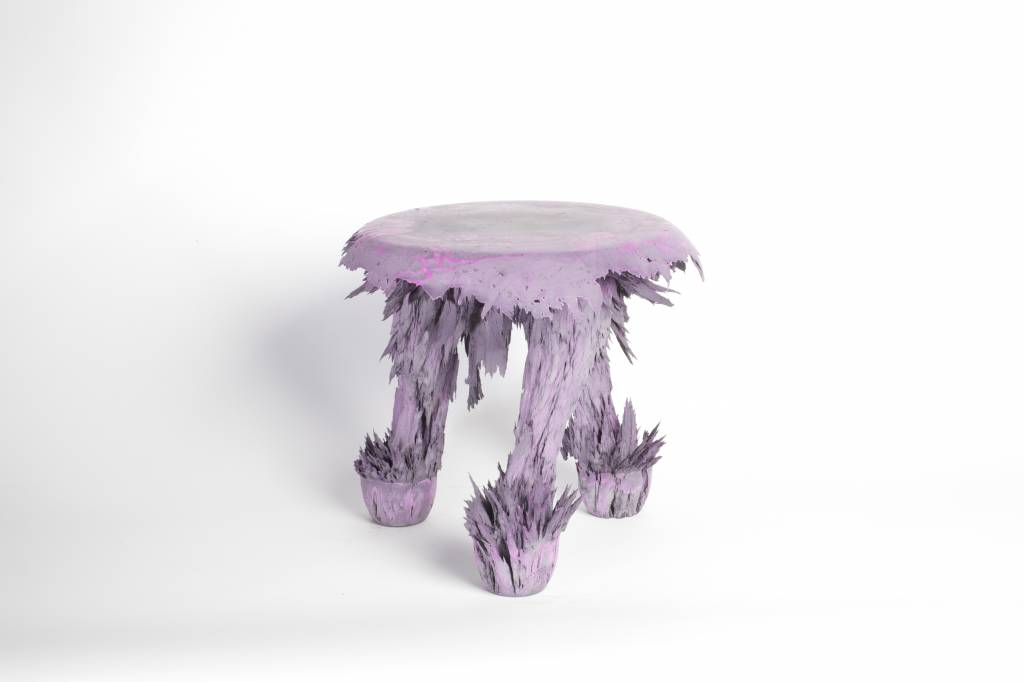 Gravity Stool - Purple & grey