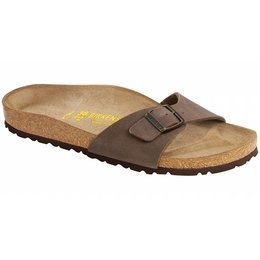 Birkenstock Madrid nubuck mocca, in 2 breedtes
