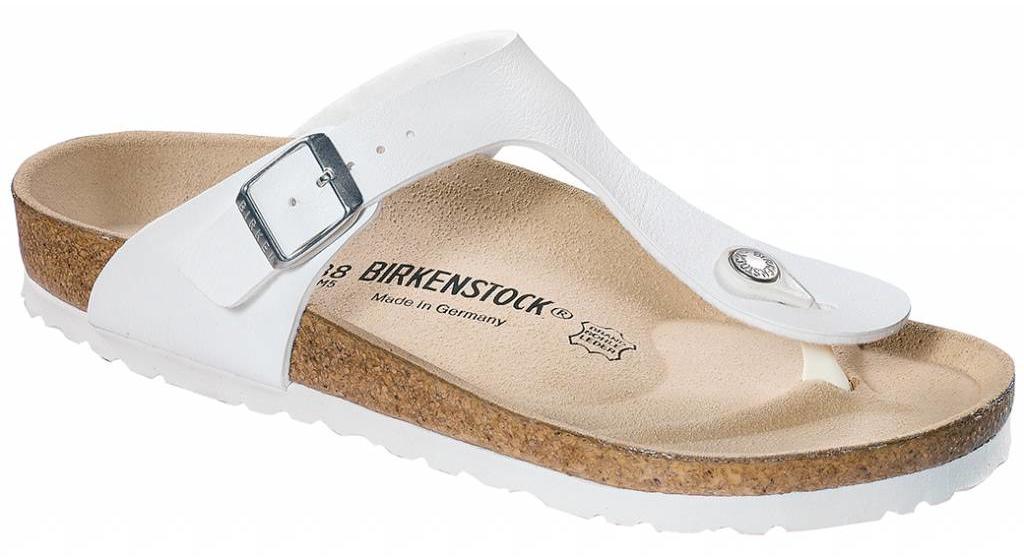 Birkenstock Gizeh white in 2 widths