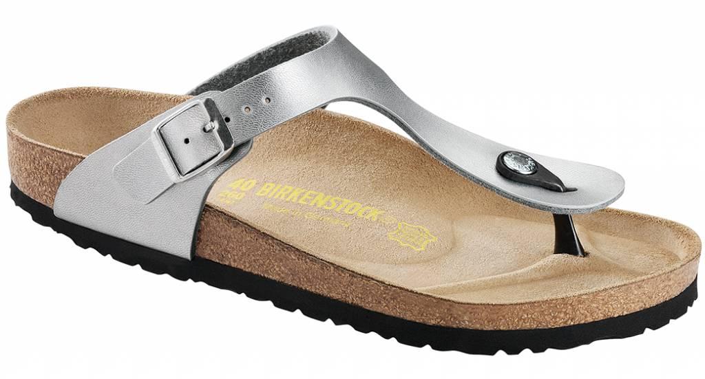 30c87d95e3cc Birkenstock Birkenstock Gizeh silver in 2 widths - The Sandalsshop