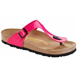 Birkenstock Gizeh pink patent, in 2 withds