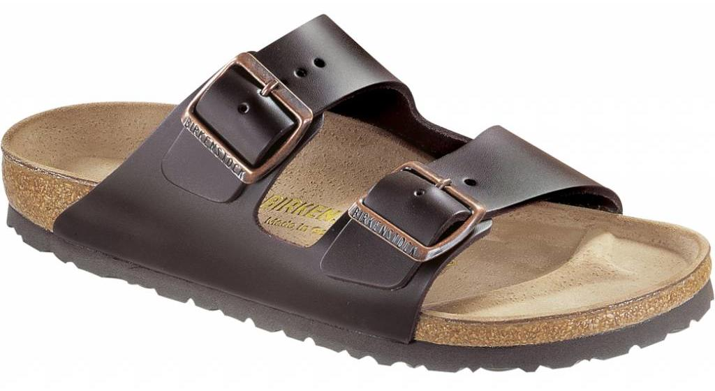 Birkenstock Arizona dark brown leather in 2 widths