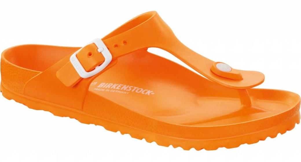 Birkenstock Gizeh kids eva neon oranje