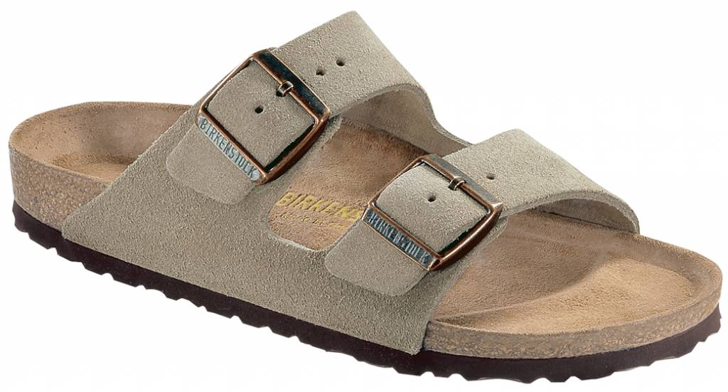 Birkenstock from Leather in Taupe