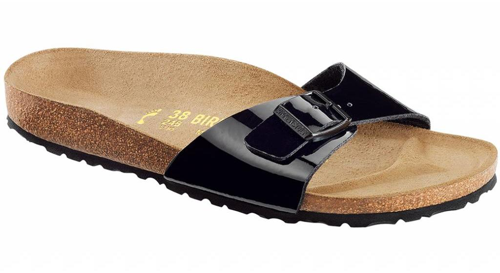 Birkenstock Madrid zwart lak in 2 breedtes