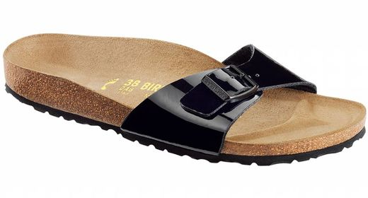 Birkenstock Birkenstock Madrid black patent in 2 widths