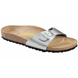 Birkenstock Madrid zilver in 2 breedtes