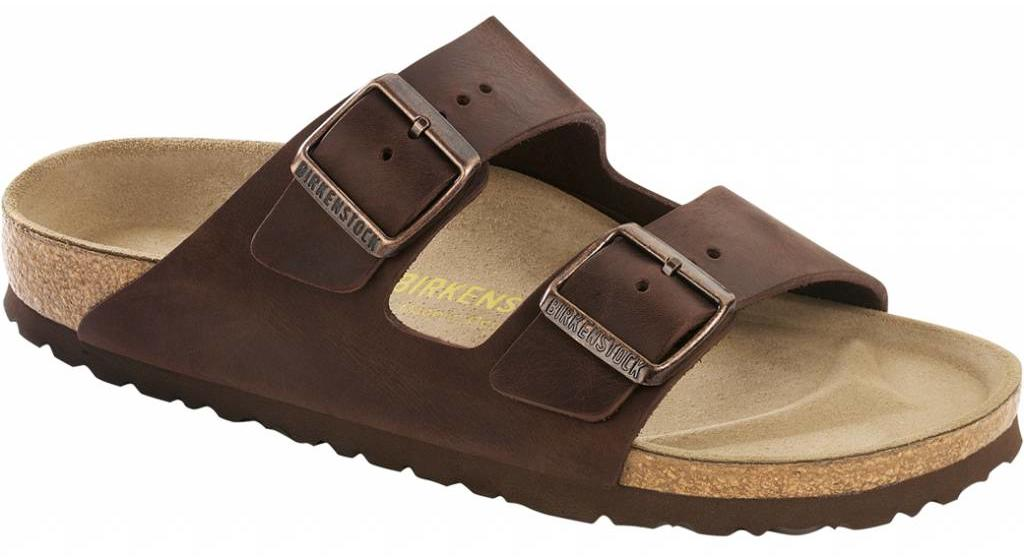 Birkenstock Arizona habana leer in 2 breedtes