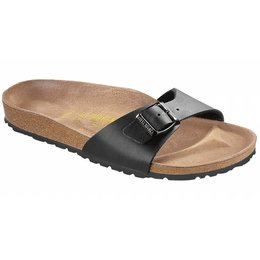 Birkenstock Madrid zwart in 2 breedtes