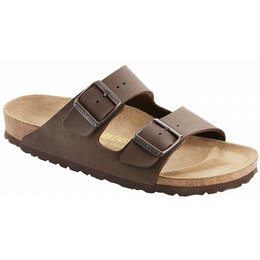 Birkenstock Arizona nubuck mokka in 2 breedtes