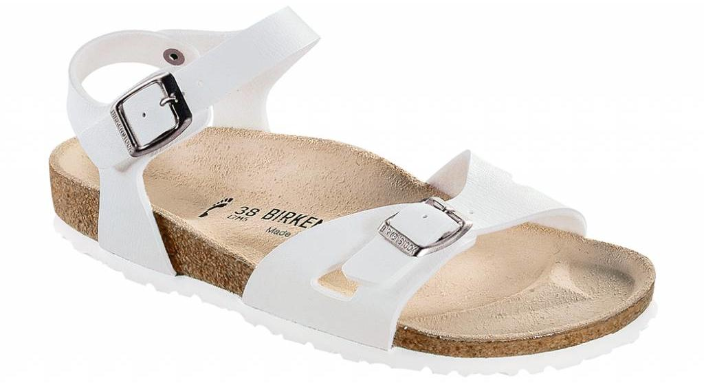 Birkenstock Rio wit, in 2 breedtes