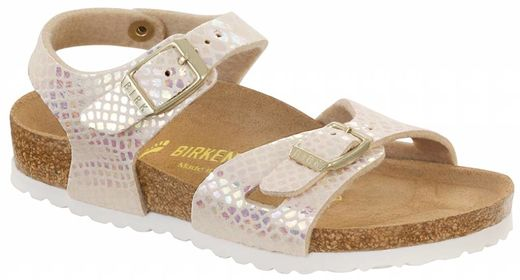 Birkenstock Birkenstock Rio kids shiney snake cream