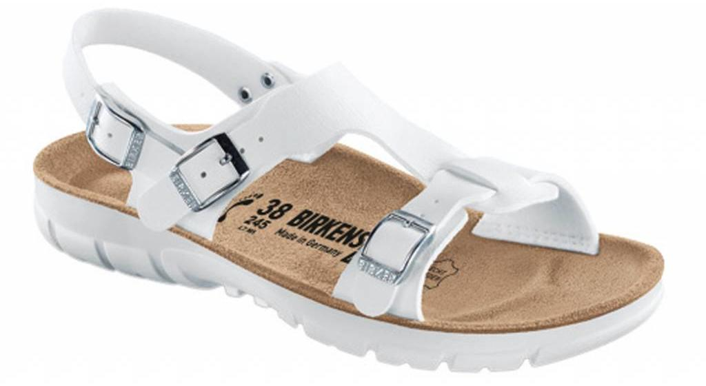 Birkenstock Saragossa white with flexible sole
