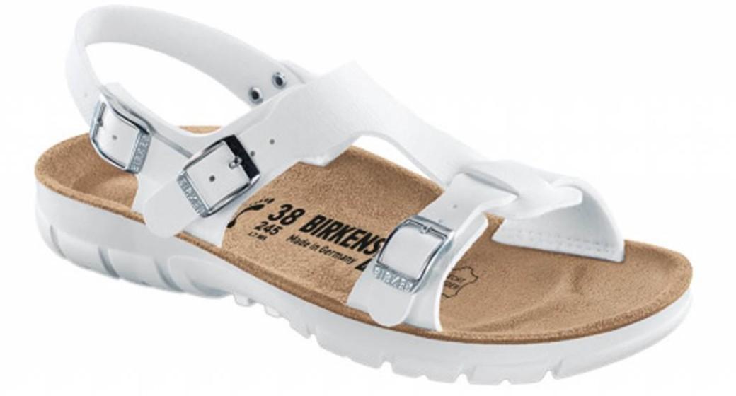 Birkenstock Saragossa white with flexible sole