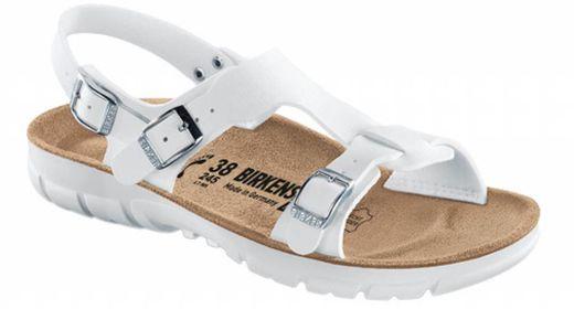 Birkenstock Saragossa wit met flexibele zool