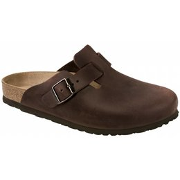 Birkenstock Boston habana leer in 2 breedtes