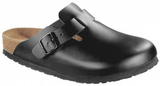 Birkenstock Birkenstock Boston black leather soft footbed in 2 widths