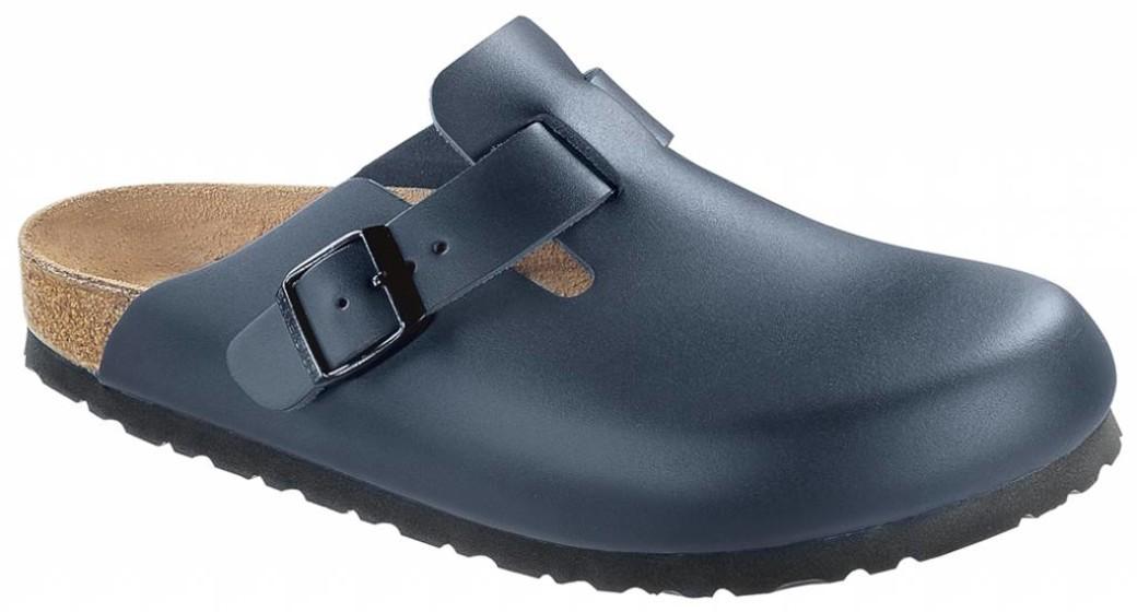 Birkenstock Boston blue leather in 2 widths