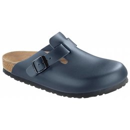 Birkenstock Boston blauw leer in 2 breedtes