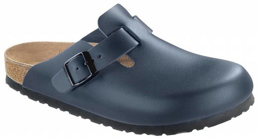 Birkenstock Birkenstock Boston blauw leer in 2 breedtes