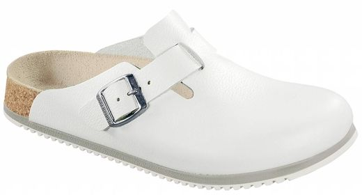 Birkenstock Birkenstock Boston white leather, anti-slip sole, in 2 widths